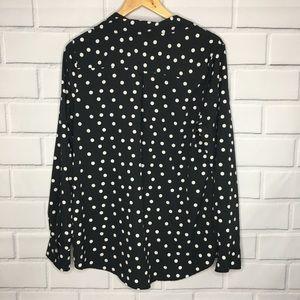 Merona Tops - Merona Long Sleeve Collar Button Up Blouse (XL)